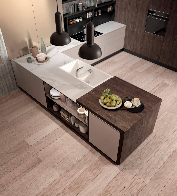 Modele erika - finition bois et blanc