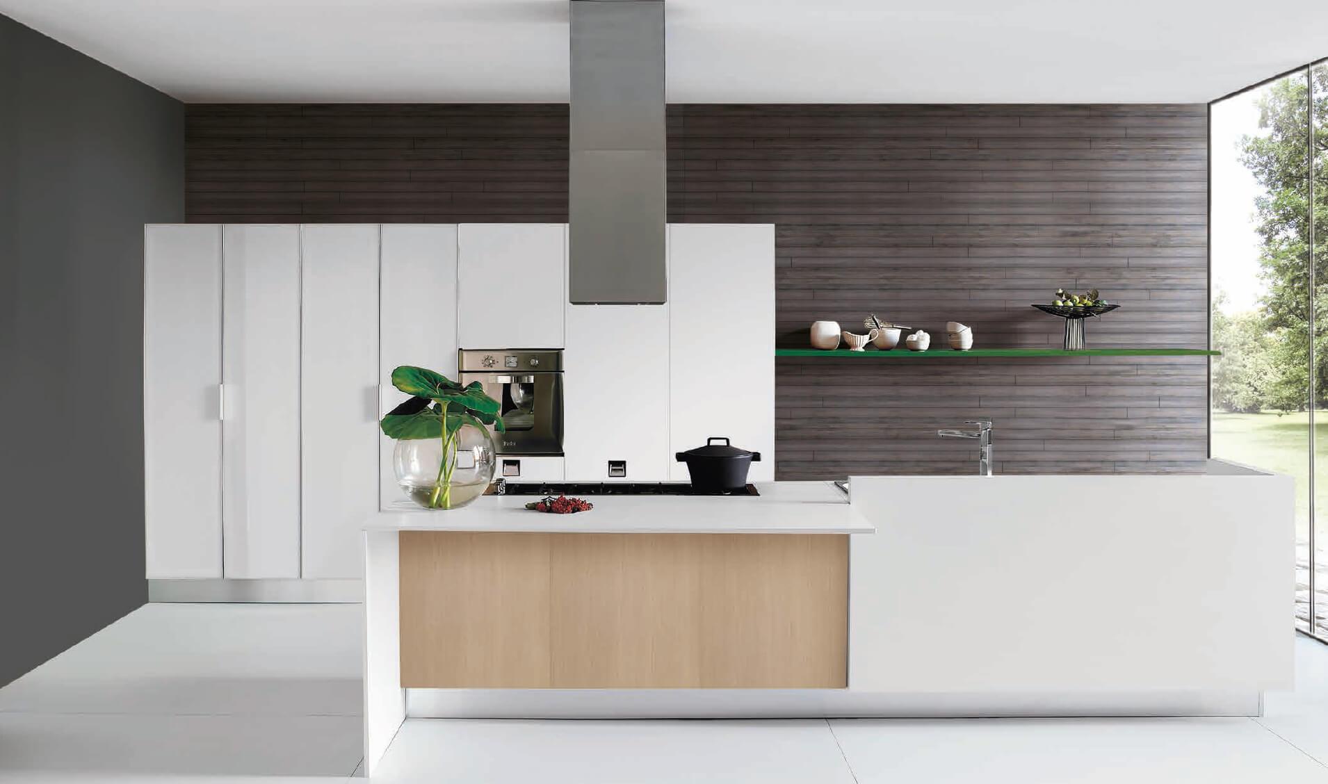 Modele penelope - finition blanc et bois