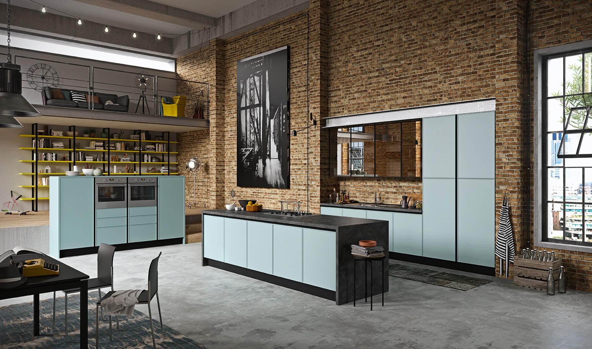 Modele quadro - meuble cuisine couleurs